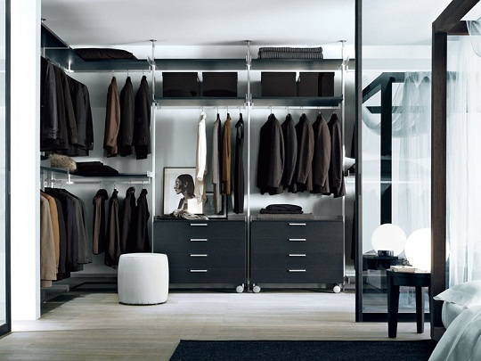 luxury closets design for man