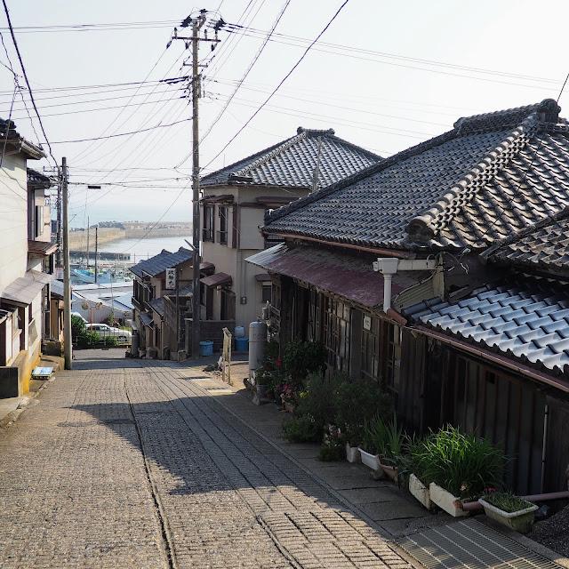 銚子 外川 港への坂道