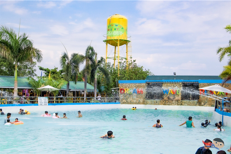 Wave pool in Dream Wave Resort, Bocaue, Bulacan