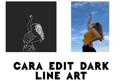 Cara Edit Foto Dark Line di Picsart (Picsart Tutorial)