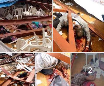 Reigners Bible Church collapsed in Uyo, Akwa Ibom State