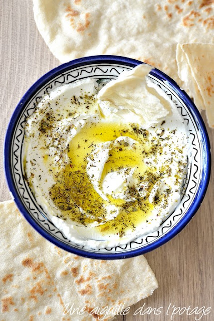 labneh-zaatar-cuisine méditerranéenne-Liban-mezze-yaourt