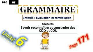 Grammaire :évaluation et consolidation(6AEP)