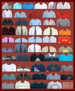 Men Casual Shirt and T-shirt PNG Design