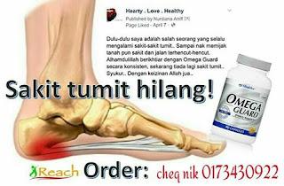 sakit tumit hilang dengan omega guard