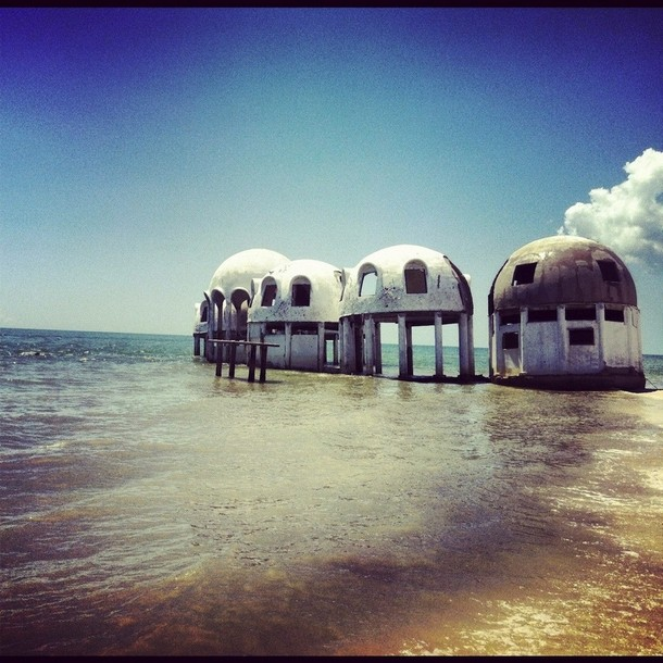 Abandoned dome houses in Southwest Florida