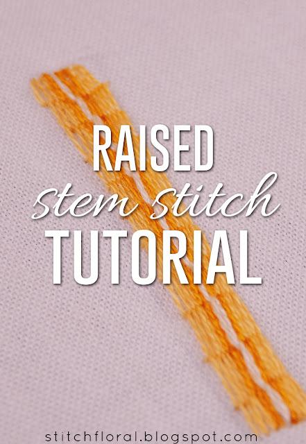 How to work raised stem stitch