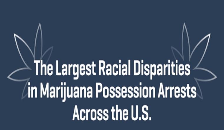 The Largest Racial Disparities in Marijuana Possession Arrests Across the U.S. #infographic
