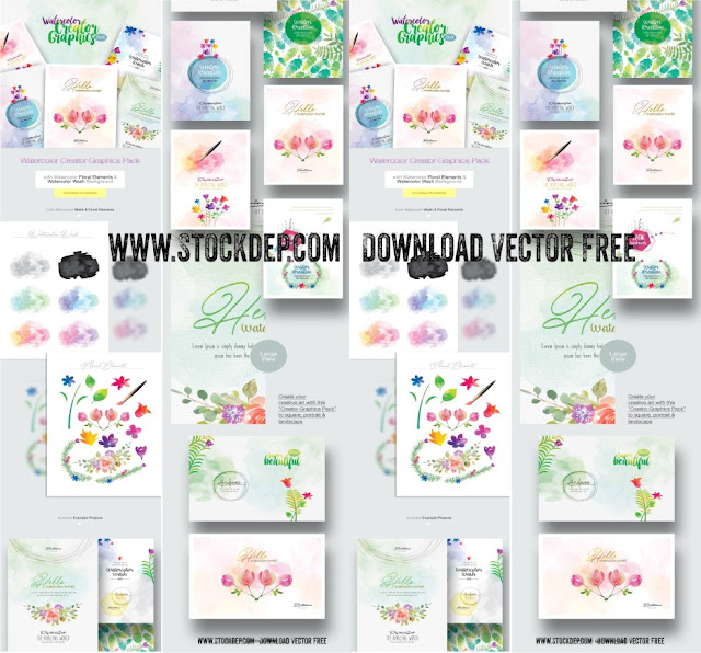 Miễn phí vector psd ai, eps Creator Graphics Pack for Web & Print Poster, Flyer & Invitation Download
