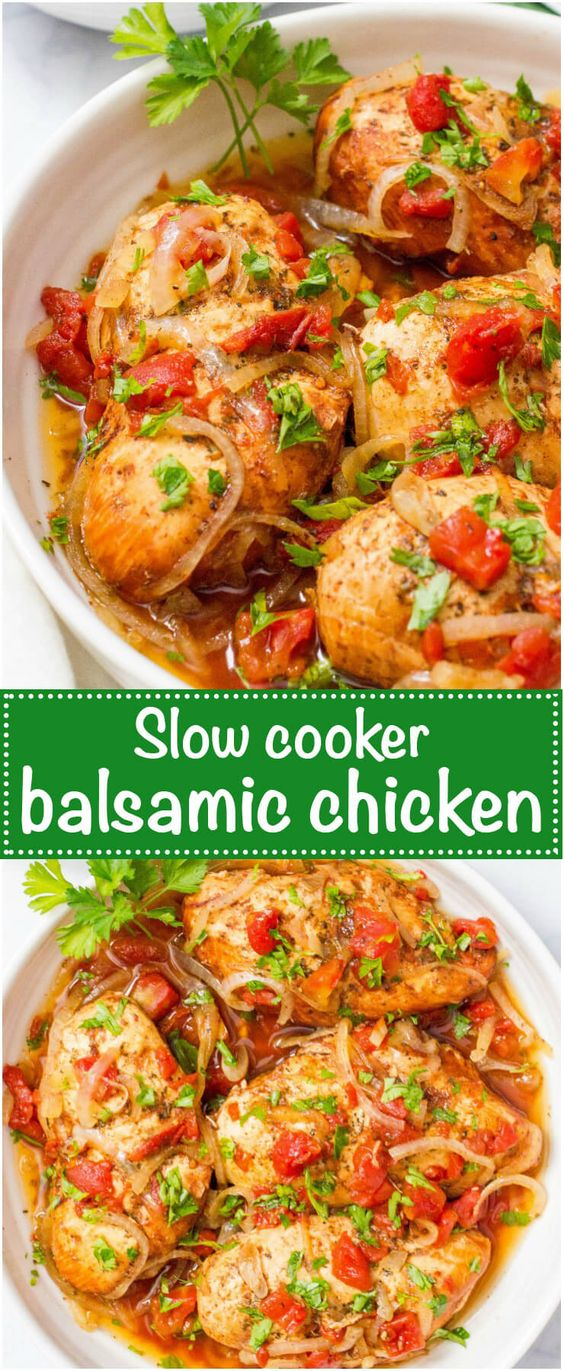 SLOW COOKER BALSAMIC CHICKEN RECIPES
