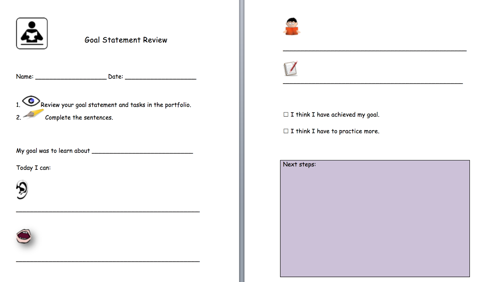 Worksheets For Highschool Students On Goal Setting