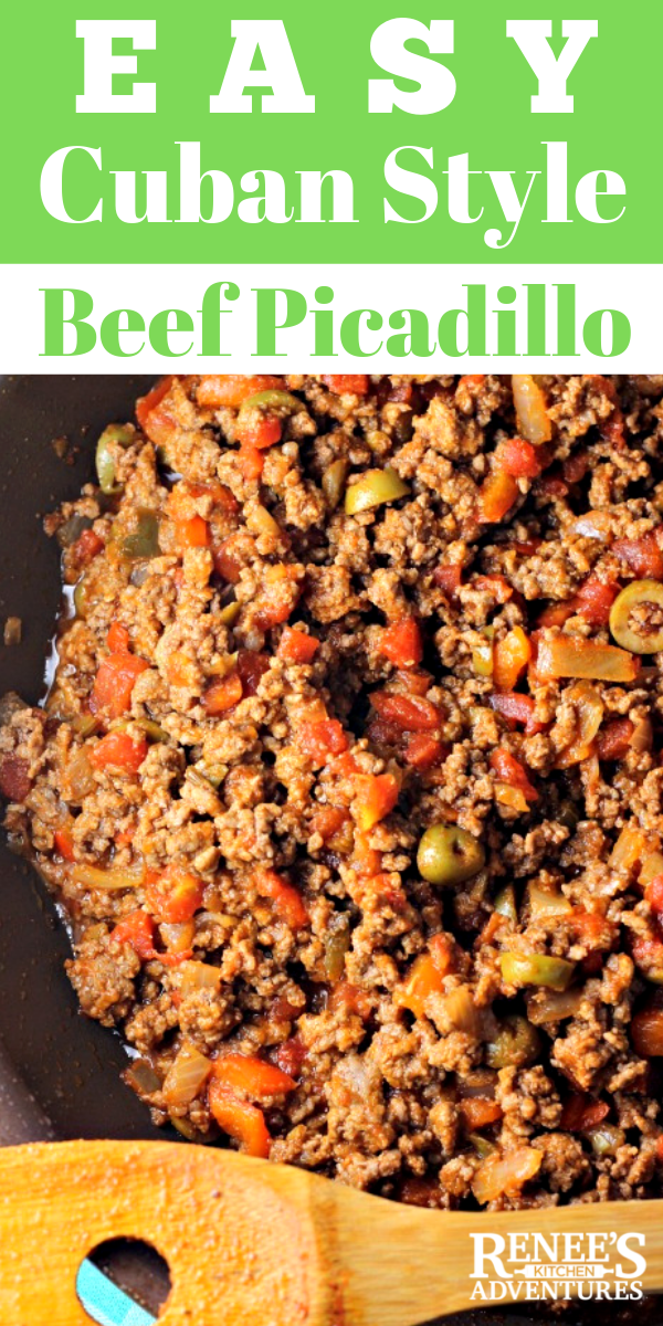 Easy Cuban Style Beef Picadillo Recipe pin