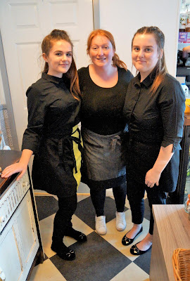Staff at the College Yard Cafe in Brigg town centre - February 2019