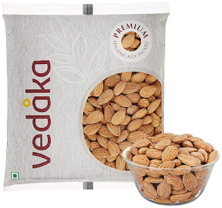 Vedaka Premium Roasted and Salted Almonds, 100g