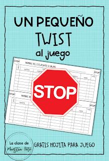 Un pequeño twist al Juego Stop en mi clase de Español