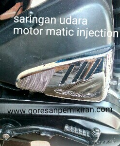merawat saringan udara motor matic injection
