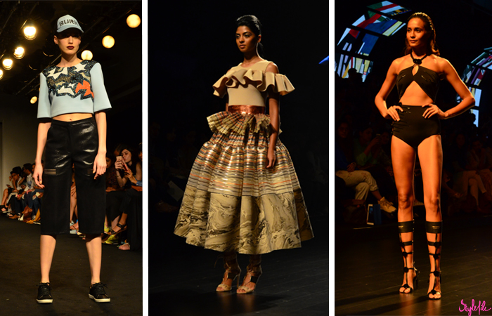 Indian designers Amit Aggarwal and Shivan & Narresh display fashion garments and clothing at Lakme Fashion Week Summer Resort 2016 captured by Style File at St. Regis Mumbai