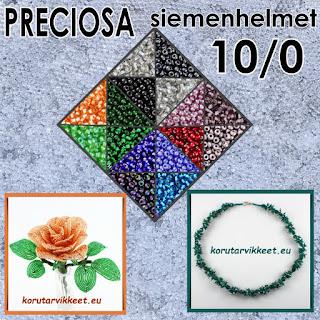Tsekkiläiset Preciosa simenhelmet pyöreät 10/0 - korutarvikkeet, askartelutarvikkeet