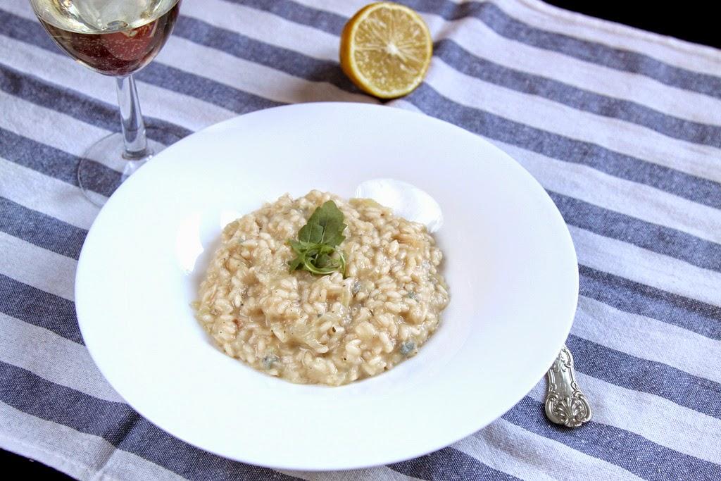 Risotto z gruszką i gorgonzolą