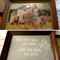 Thrifted Chalkboard by Over the Apple Tree