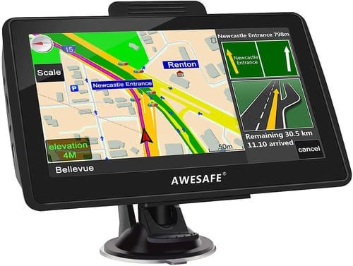 AWESAFE 7 inches Touch Screen Car Navigation GPS