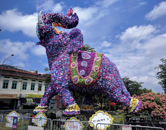 Little India elephante sculpture