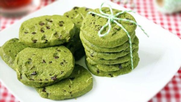 Lezzetli Yeşil çaylı Kurabiye Tarifi