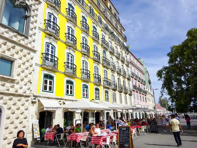 Pretty Colourful Buildings in Lisbon