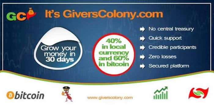 Grow your money by 40% on GiversColony!!