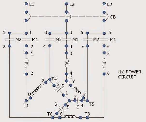 motor control schematic diagram wye delta