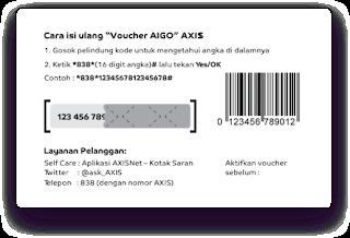 Cara Isi Ulang Voucher Aigo Axis Dengan Mudah