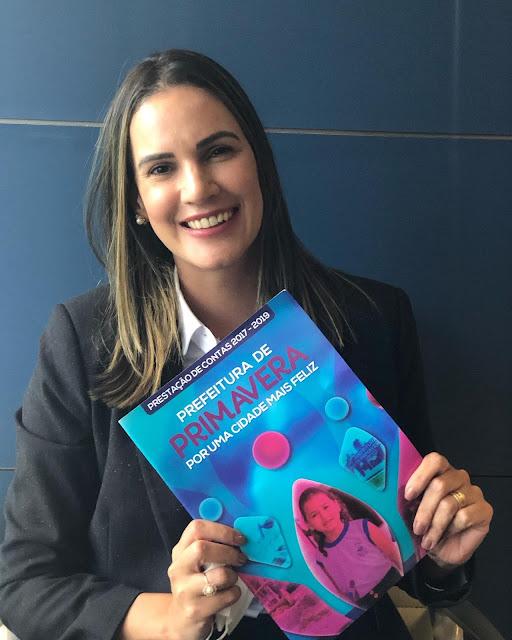 Prefeita Dayse Juliana viaja para Brasília em busca de recursos para Primavera