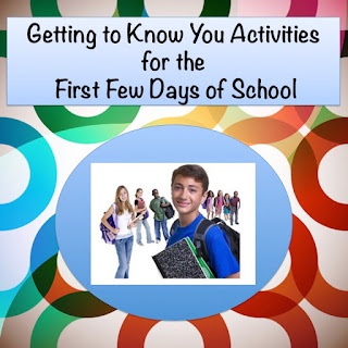Getting to Know You Activities for the First Few Days of School