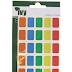 Multicolour Rectangle 12x18mm