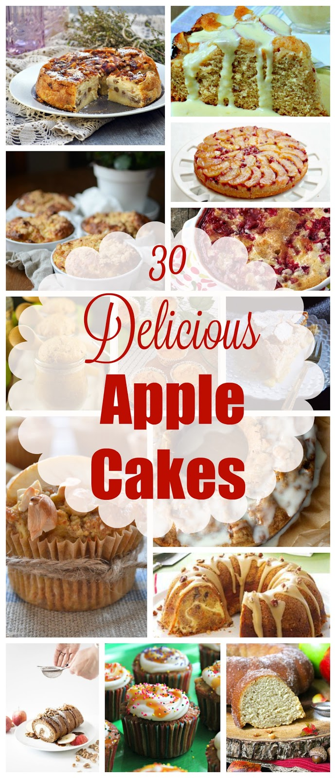 To celebrate Fall and Apple season, here's a delicious collection of 30 DELICIOUS APPLE CAKES!  Look no more! | manilaspoon.com