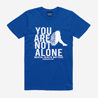 GOMAGEAR You Are Not - Mental Health Matters Unisex Tee - Light Blue