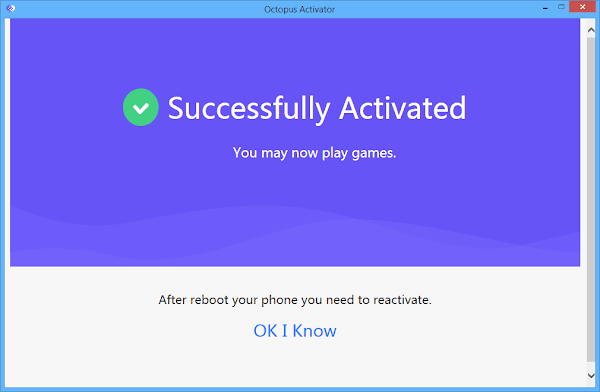 Succesfully Activated
