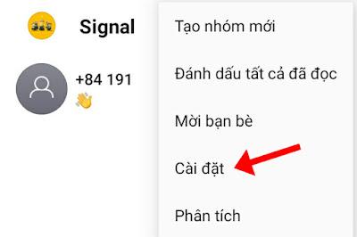 Cài đặt Signal