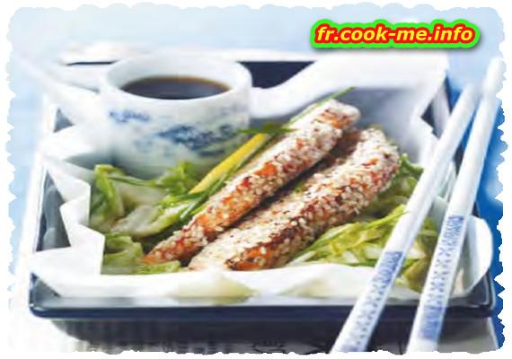 Papillote de saumon au chou chinois