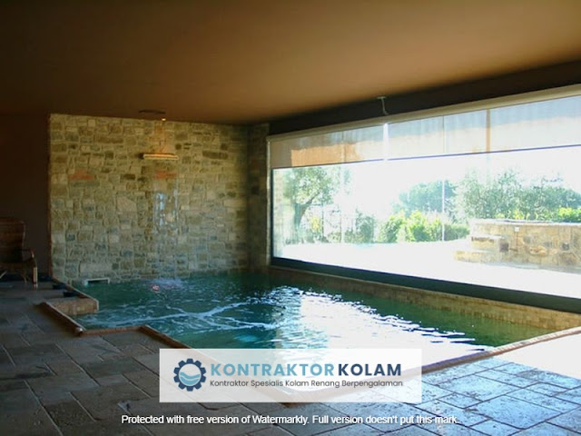 desain kolam renang indoor pool Pekanbaru