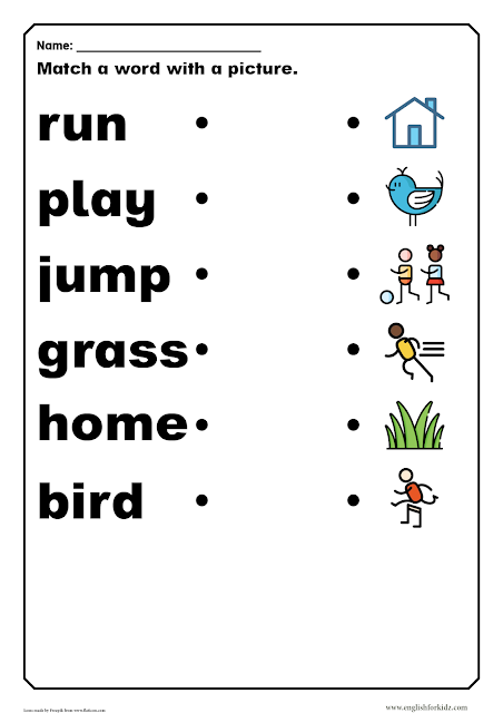 Sight words worksheet pre-primer level - ESL resources