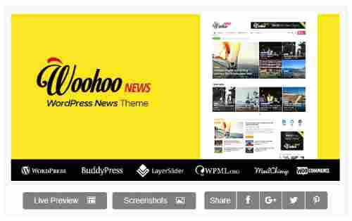 Download Theme Wordpress News Magazine Woohoo