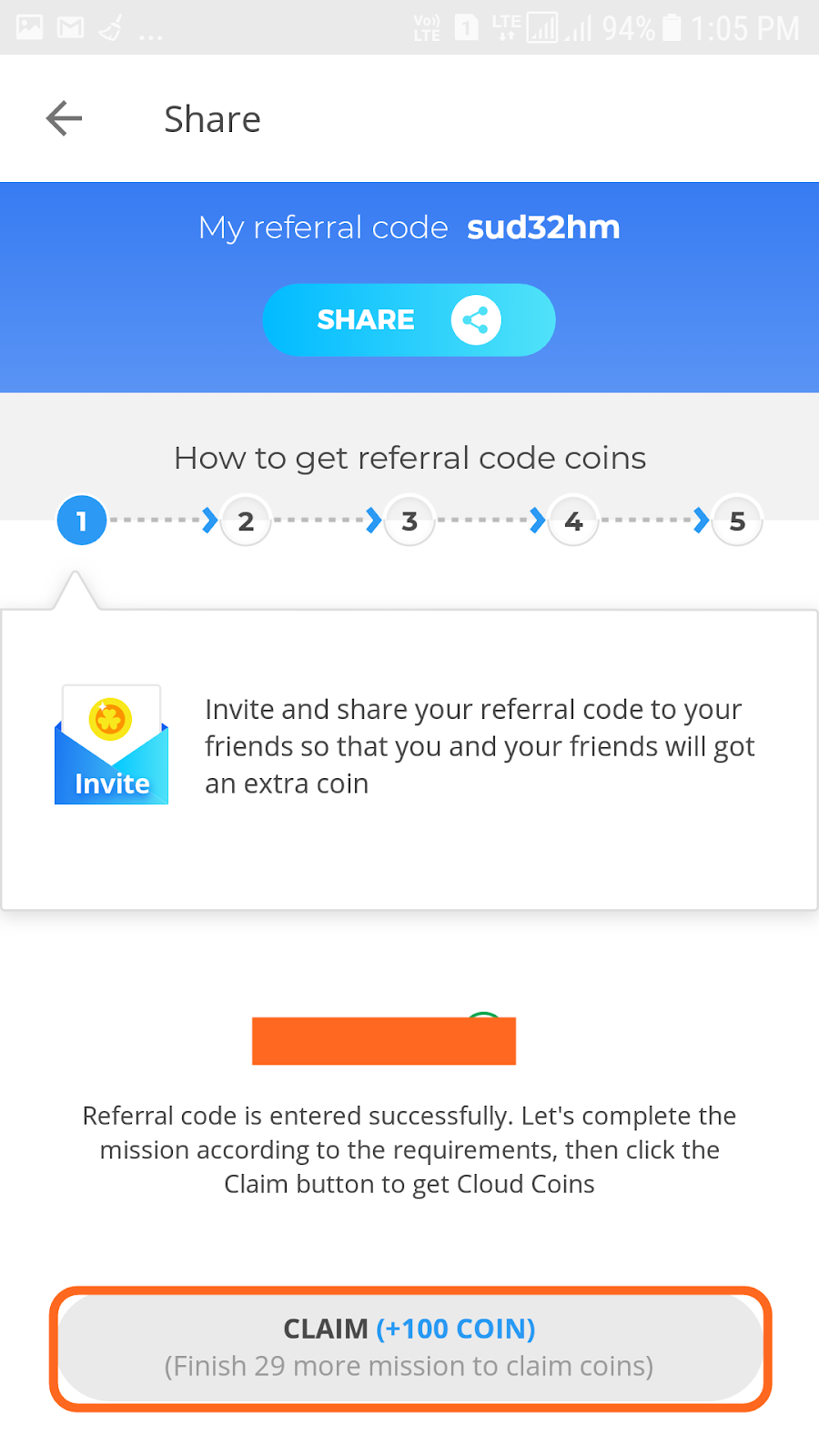 mint coins app referral code