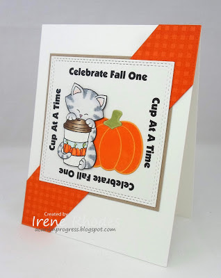 Celebrate fall one cup at a time by Dandi features Newton Loves Coffee and Pick-a-Pumpkin by Newton's Nook Designs; #newtonsnook