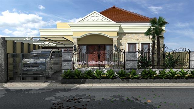 Inspirasi Desain Rumah Mewah 1 Lantai Model Klasik Modern Yang Cantik