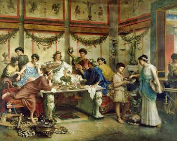 A Roman Feast, Roberto Bompiani, (Getty Museum)