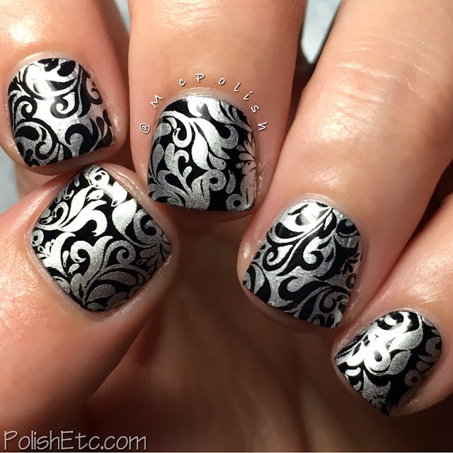 Damask pattern inspiration for the #31DC2016Weekly - McPolish