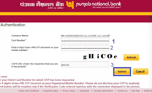 PNB ATM Card Green PIN Generate Kaise Kare