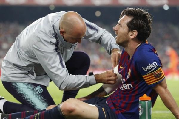 Pemain asal Argentina, Leo (Lionel Maessi) dengan keadaan cedera dipaksa Barcelona FC untuk bertanding melawan dikandang Inter milan