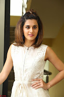 Taapsee Pannu in cream Sleeveless Kurti and Leggings at interview about Anando hma ~  Exclusive Celebrities Galleries 015.JPG